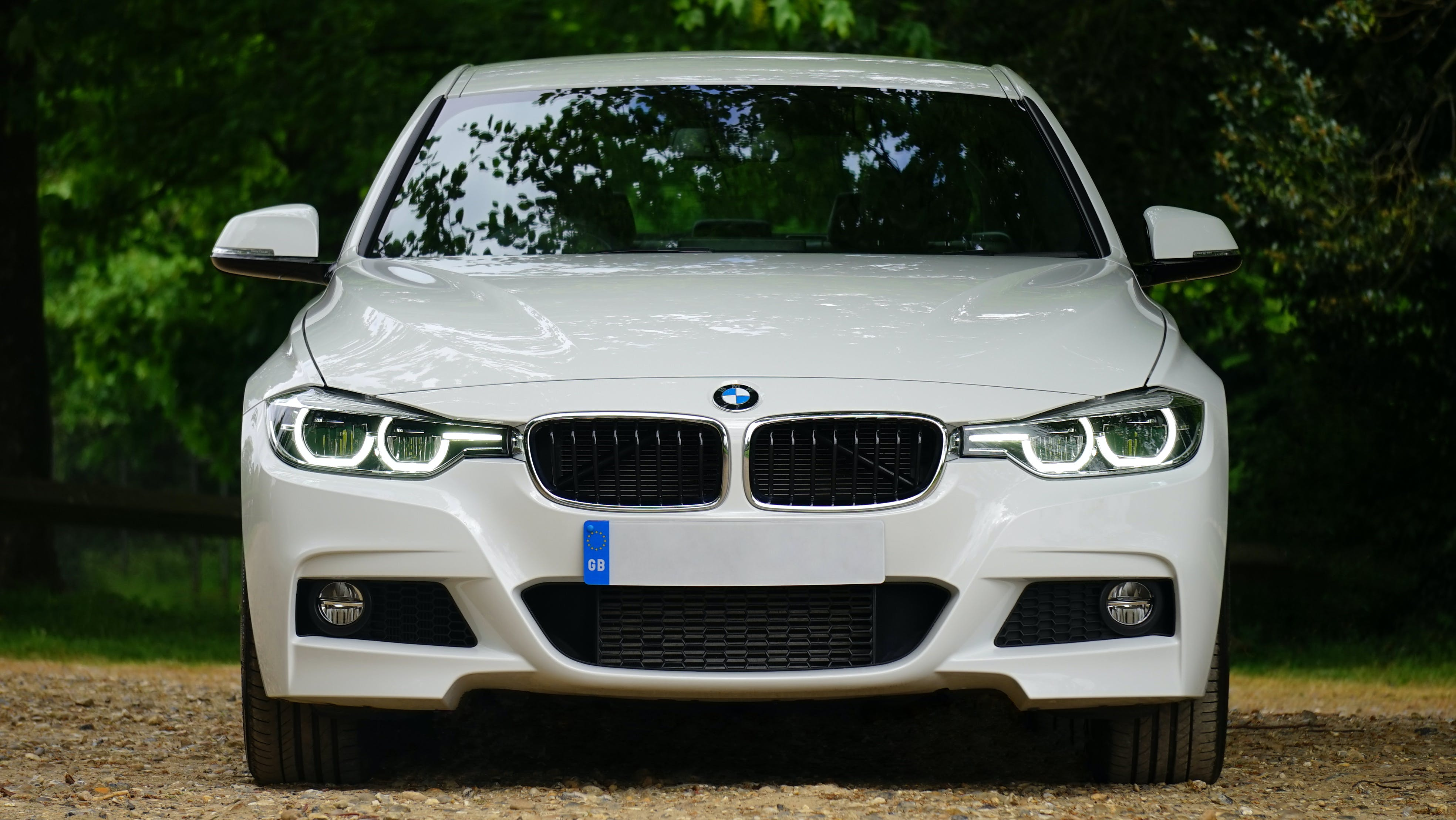 White Bmw Car