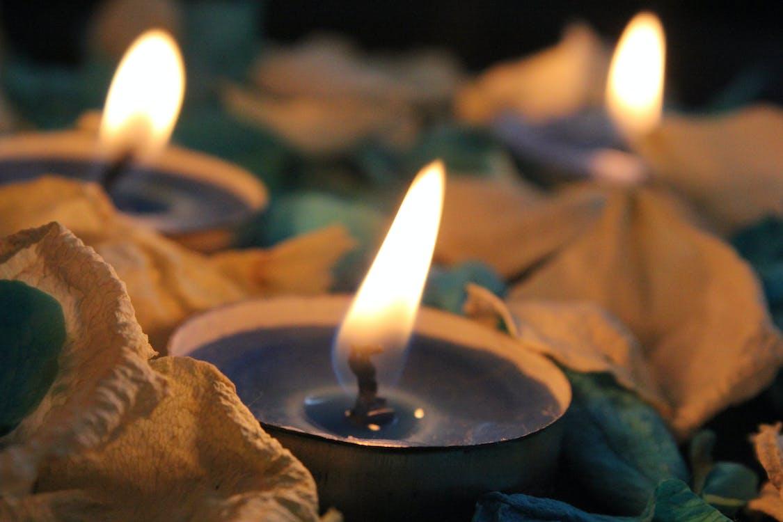 ardente, candele, fiamma