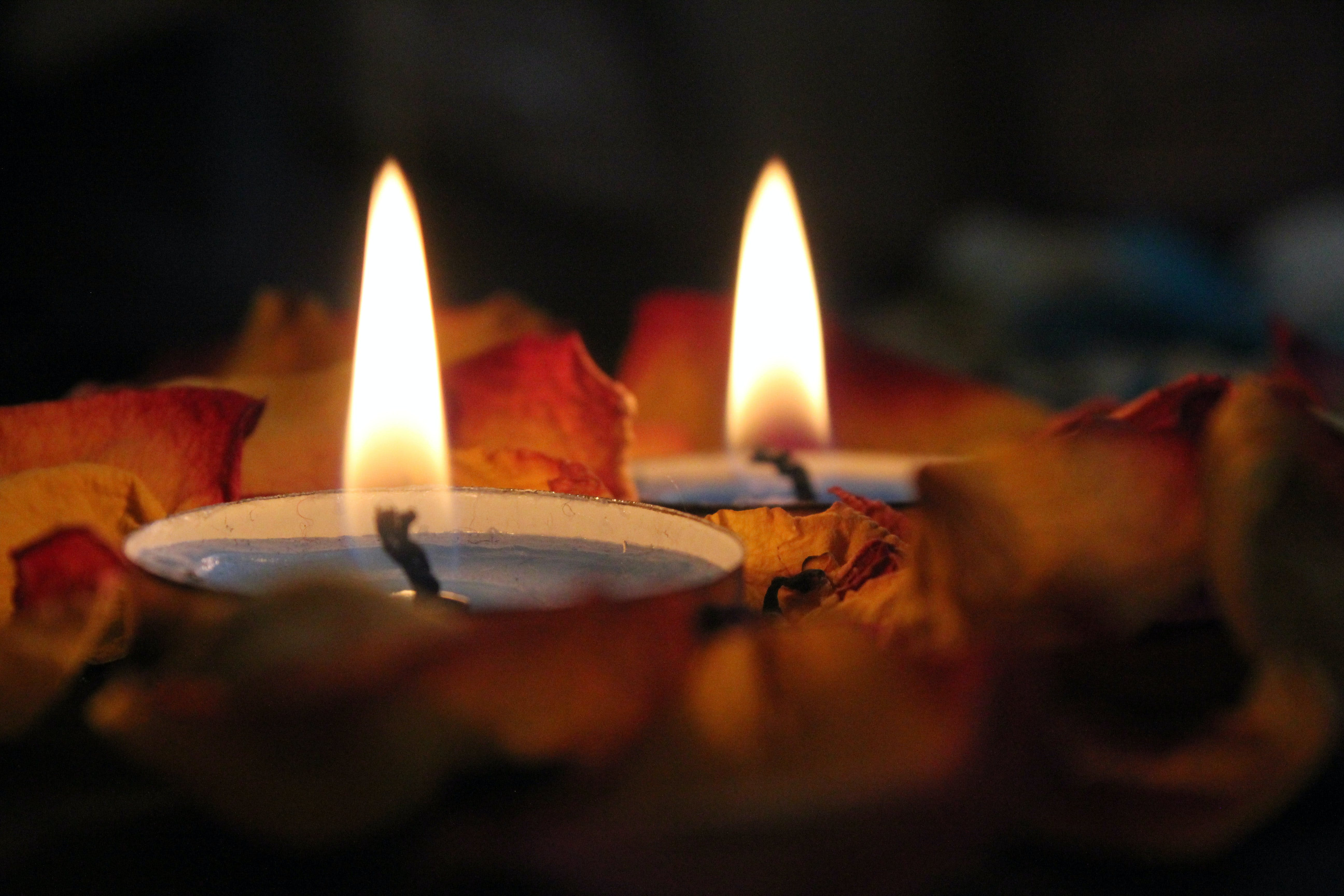 Close-up Photography Of Candels