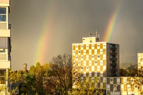 Free stock photo of architecture. city, color, rainbow