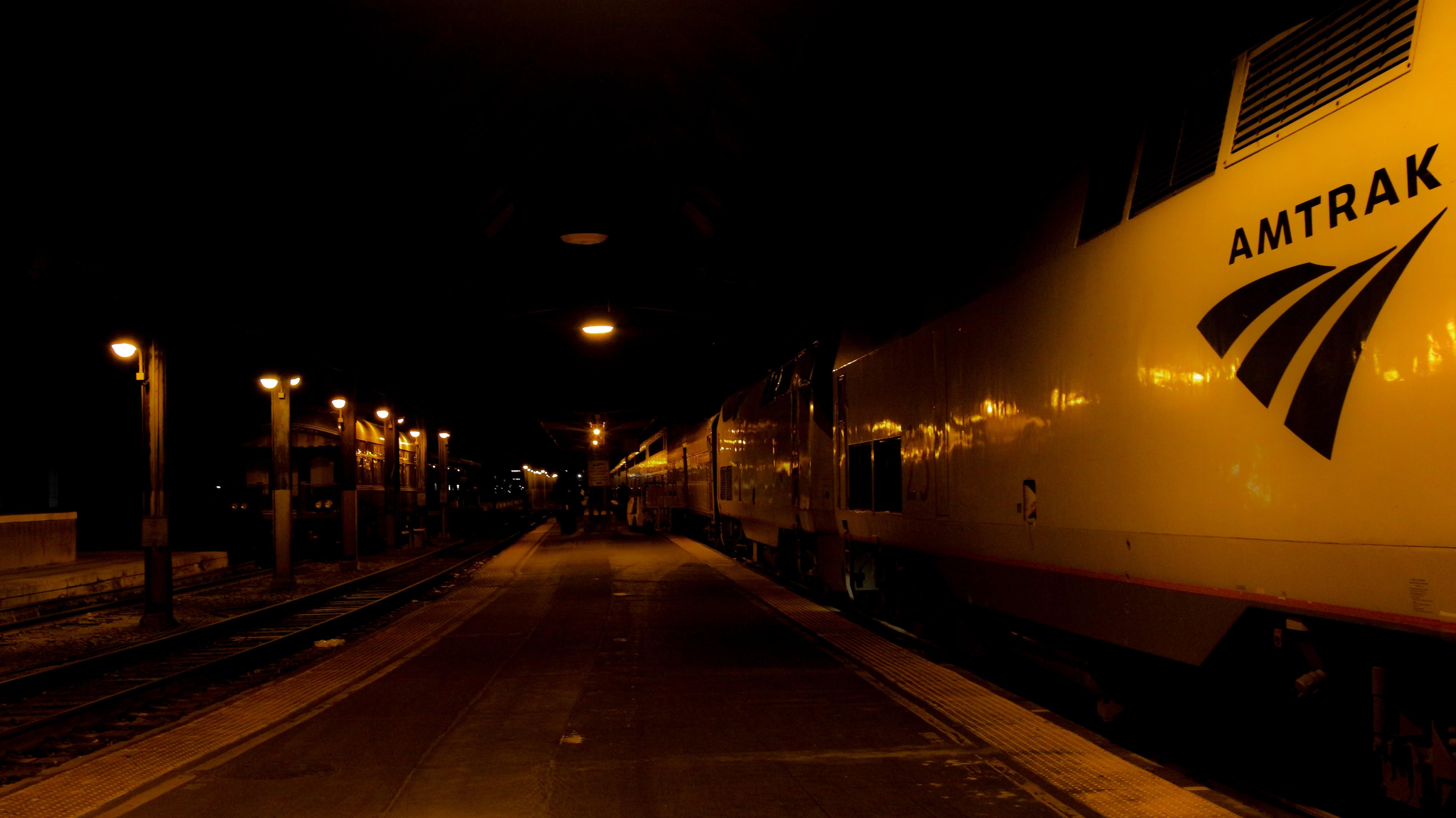 Free stock photo of night, dark, train, travel