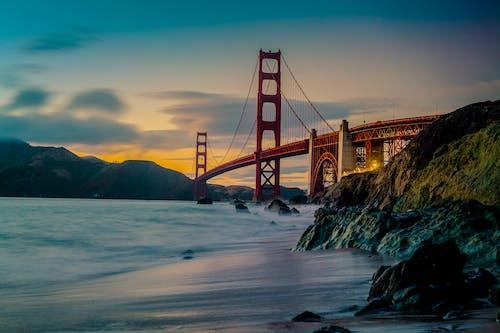 ゴールデンゲート, ゴールデンゲートブリッジ, サンフランシスコ, シースケープの無料の写真素材
