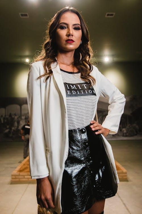 Photo of Woman Wearing White Blazer