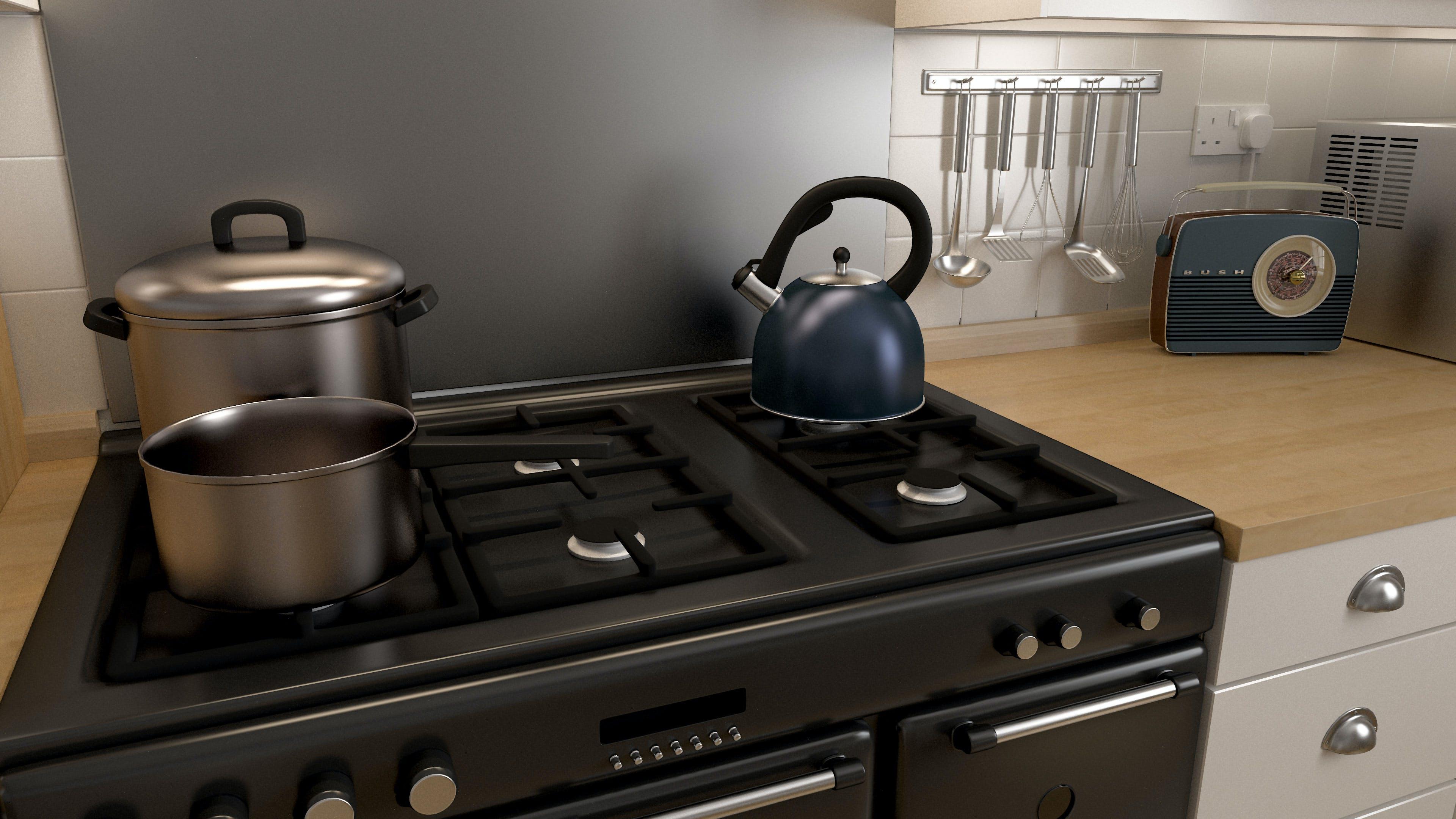 厨房燃烧器, 廚房, 高清桌面 的 免费素材照片