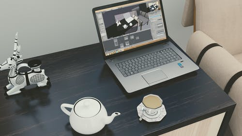Free stock photo of cup, HD wallpaper, laptop, tea