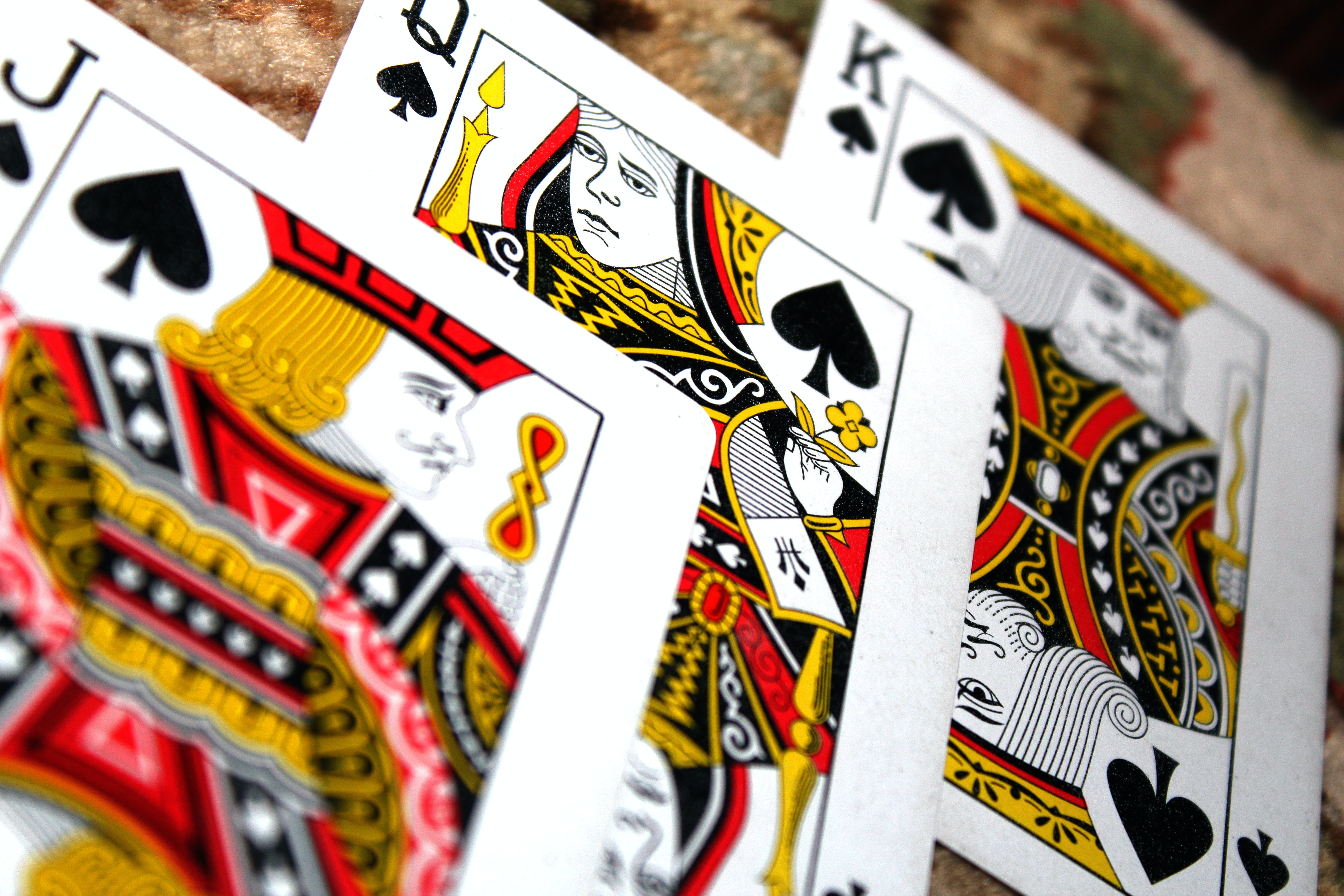 King Jack And Queen Of Spades Playing Cards Free Stock Photo