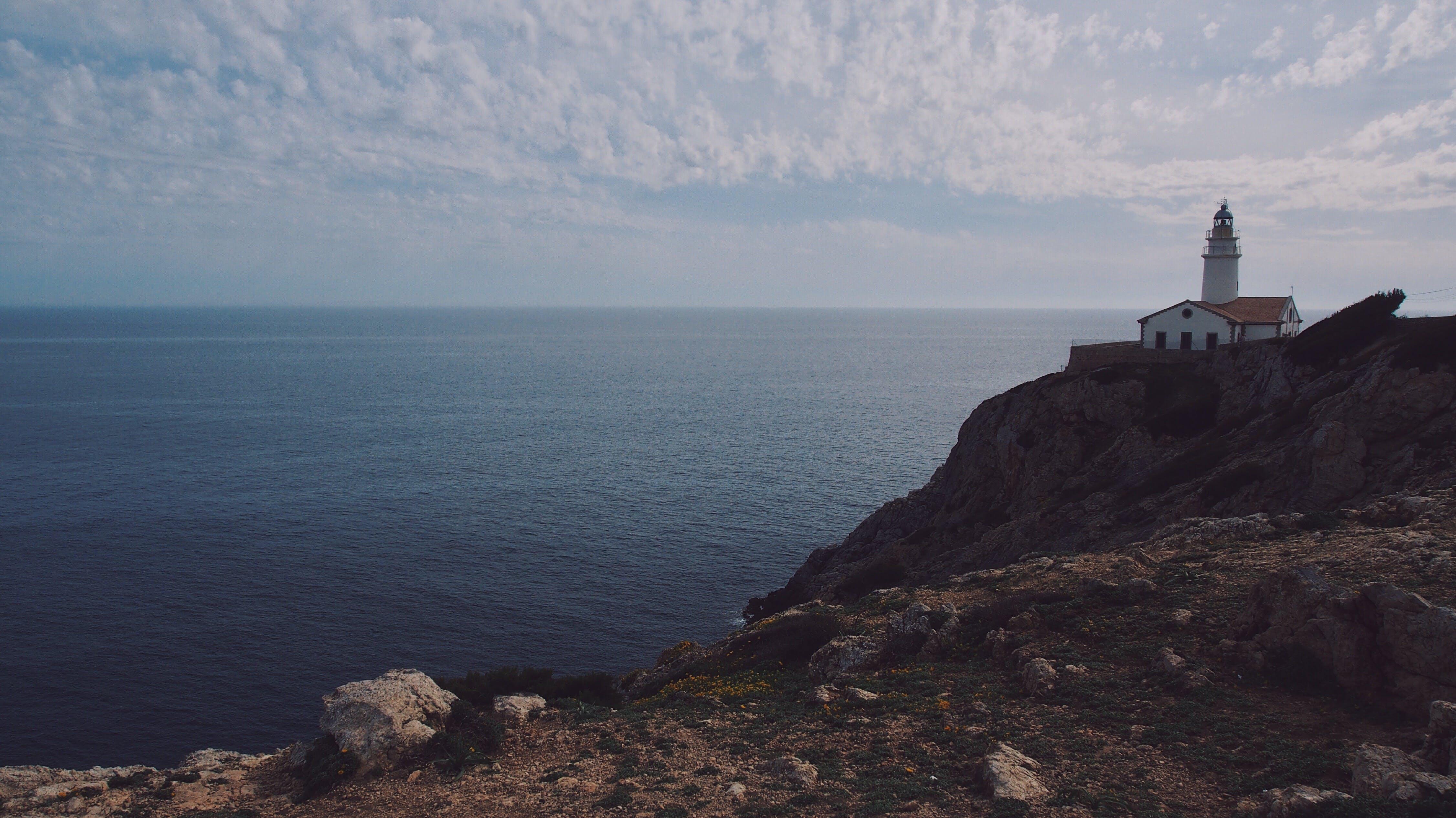 Foto stok gratis air, jurang, langit, laut