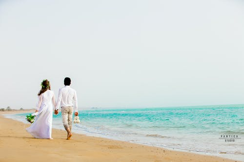 Free stock photo of beach, beach wedding, couple, wedding