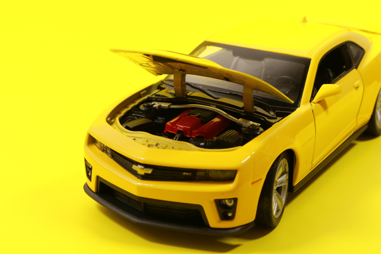 Yellow Chevrolet Camaro Die-cast Model
