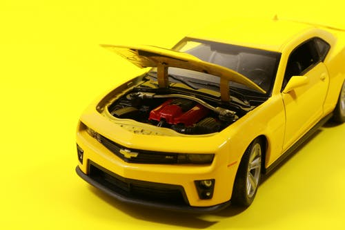 Yellow Chevrolet Camaro Die-cast Model