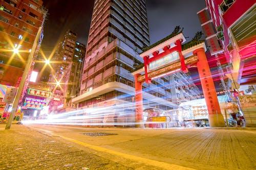 Ảnh lưu trữ miễn phí về các tòa nhà, chiếu sáng, góc chụp thấp, hk
