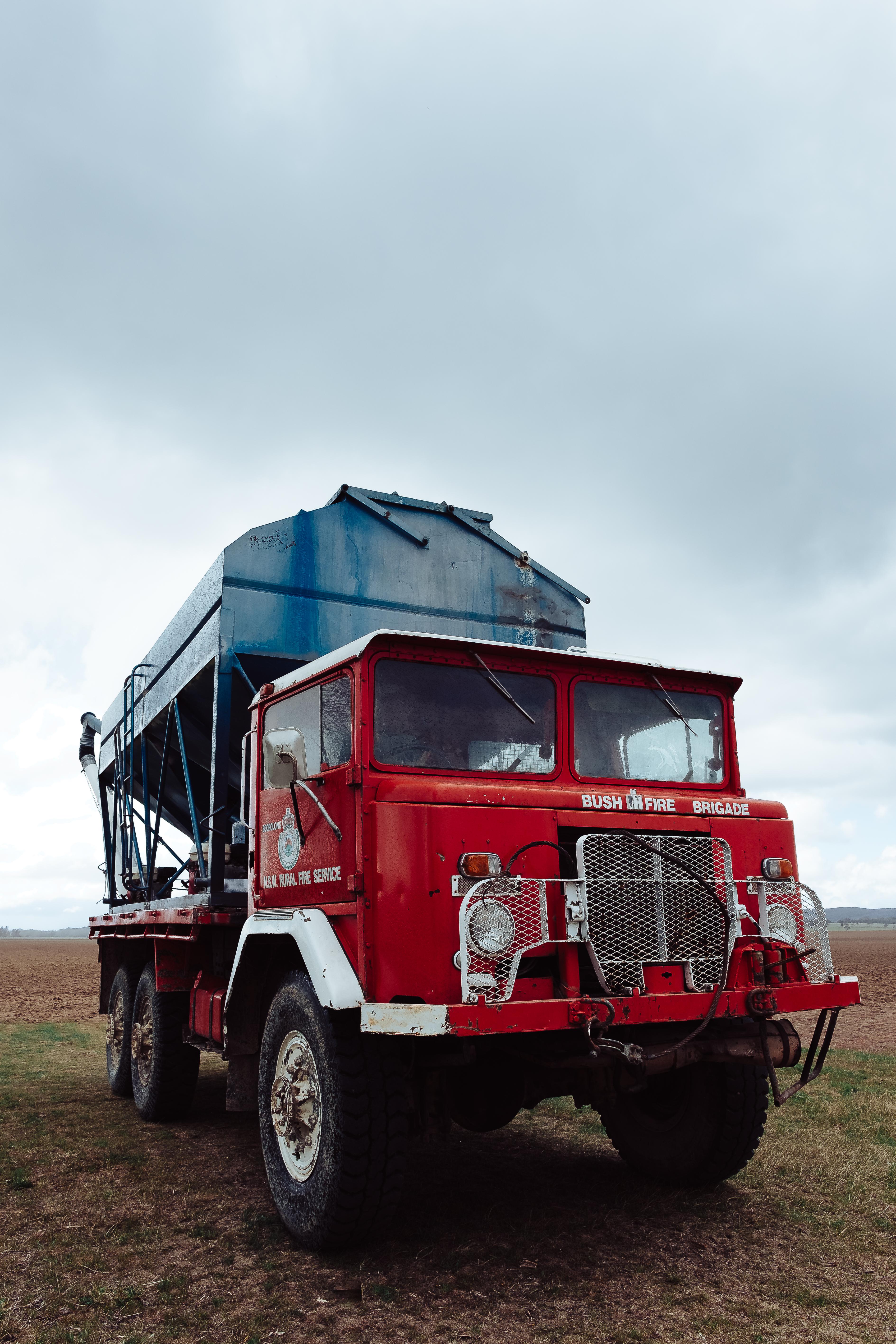 Red an Gray Truck