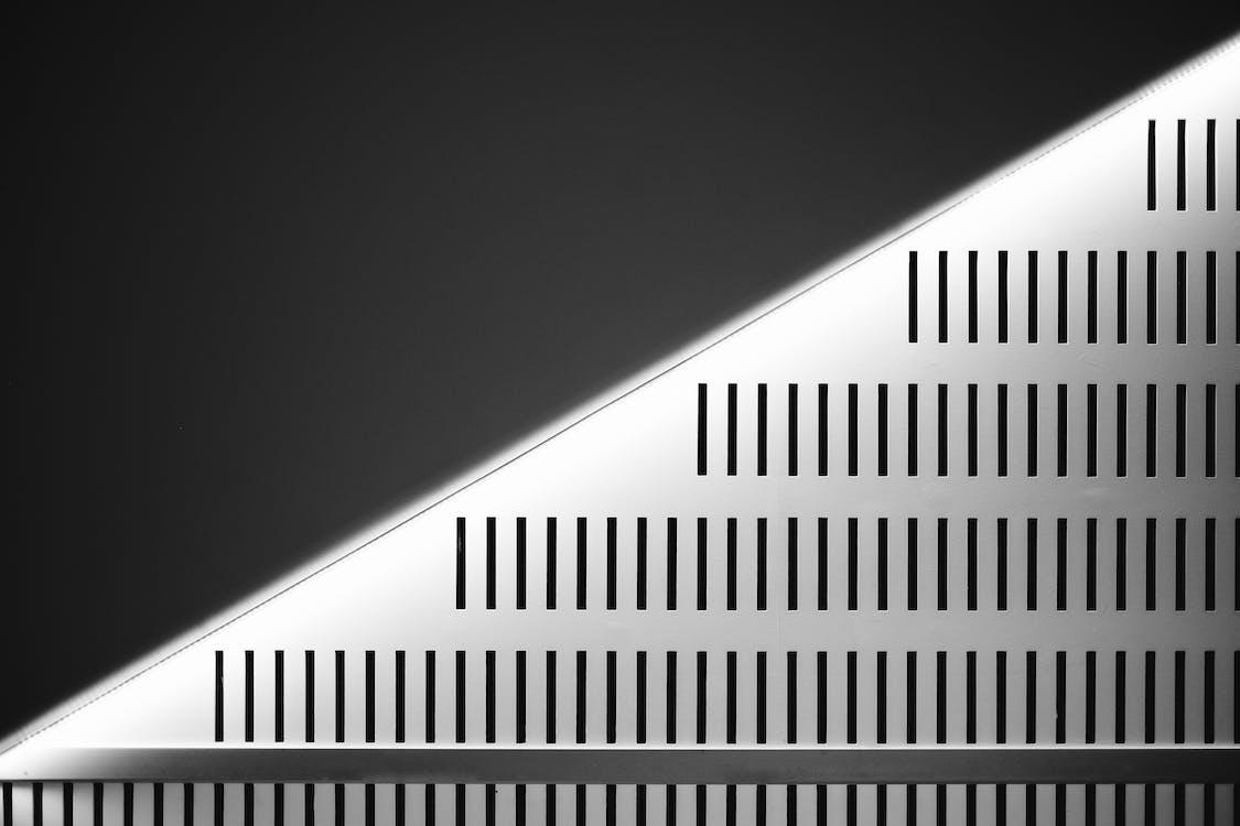 абстрактный, архитектура, геометрический