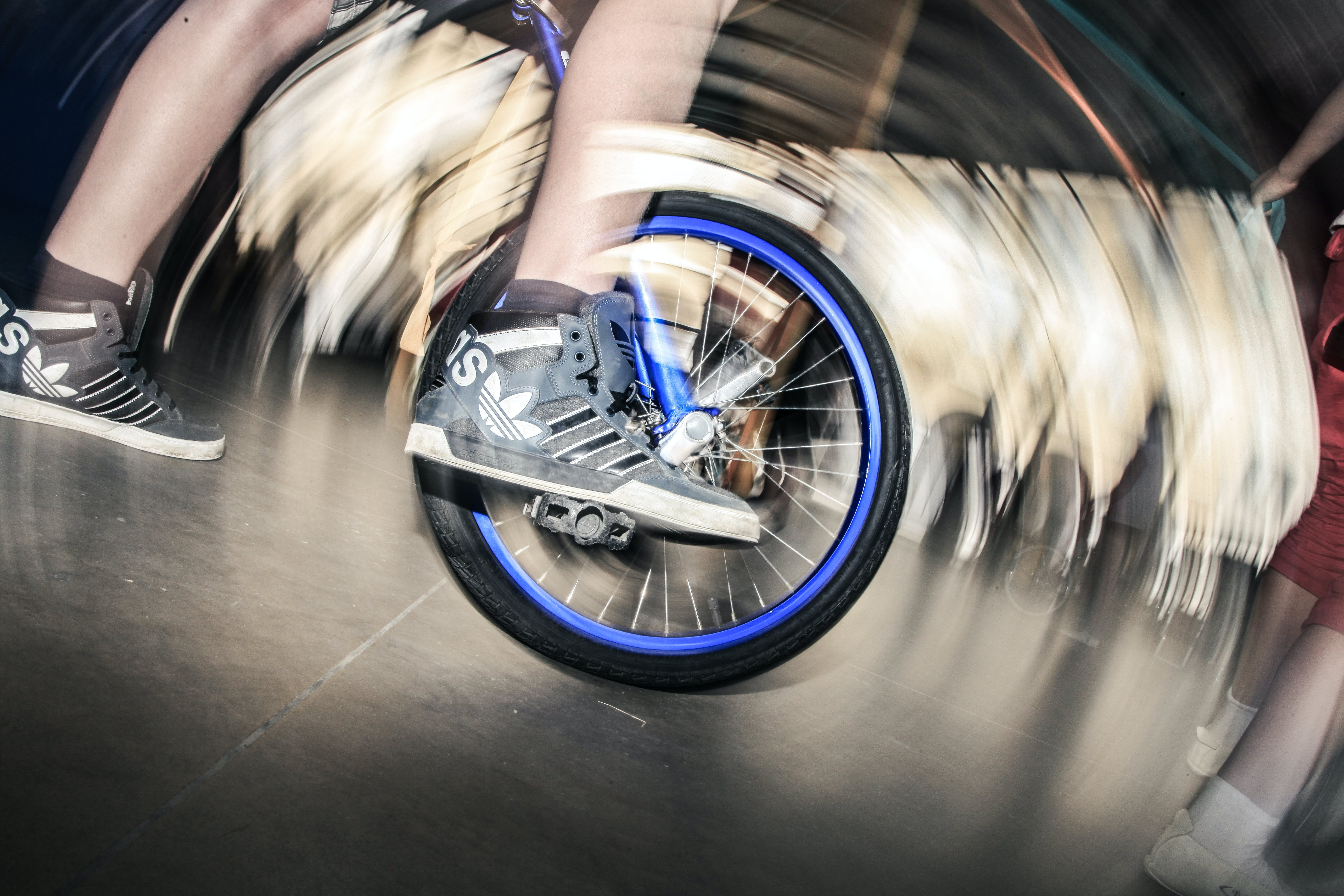 Free stock photo of action, bicycle, bike, foot