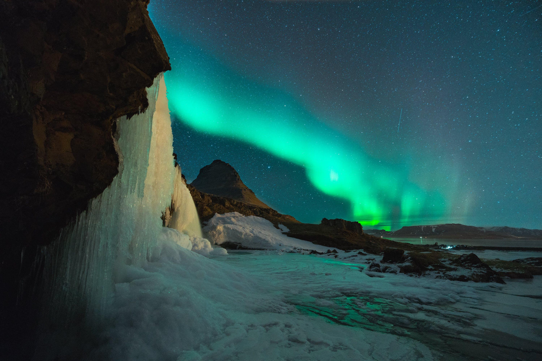 Gratis lagerfoto af astro, astrofotografering, aurora borealis, bjerg