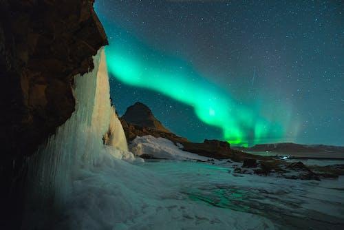 Foto profissional grátis de água, astro, astrofotografia, Aurora boreal