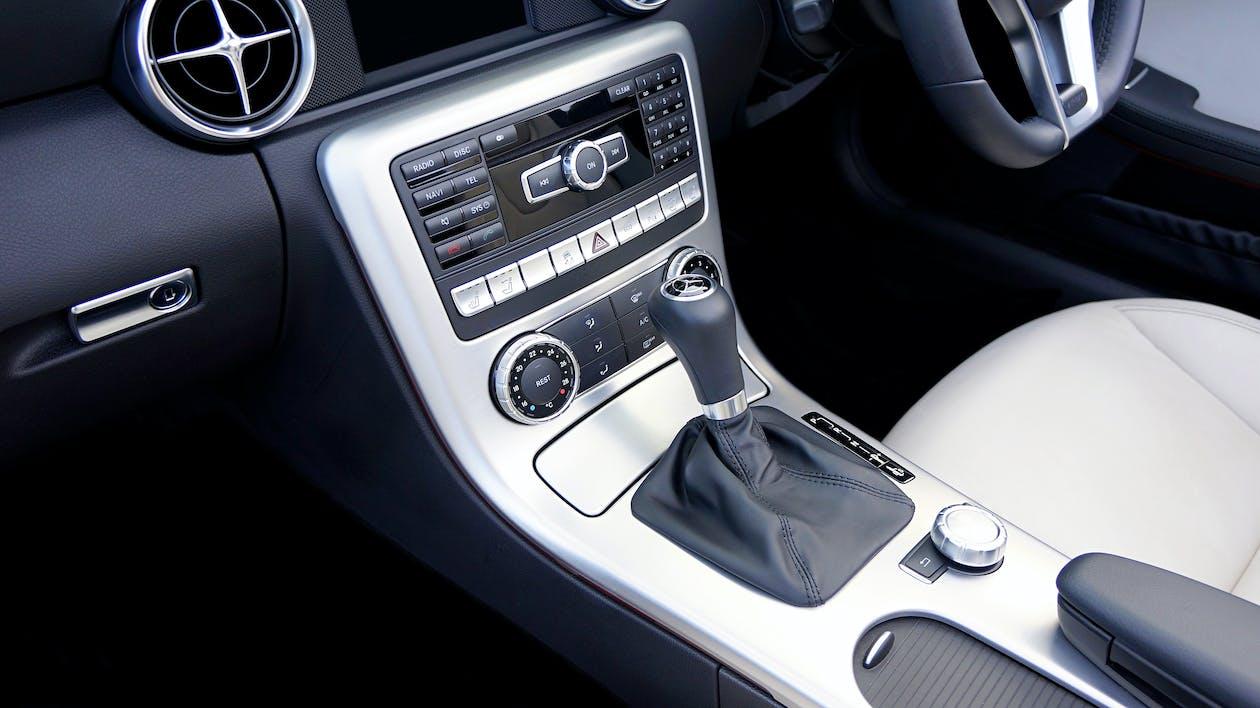 Gray and Black  Car Stereo