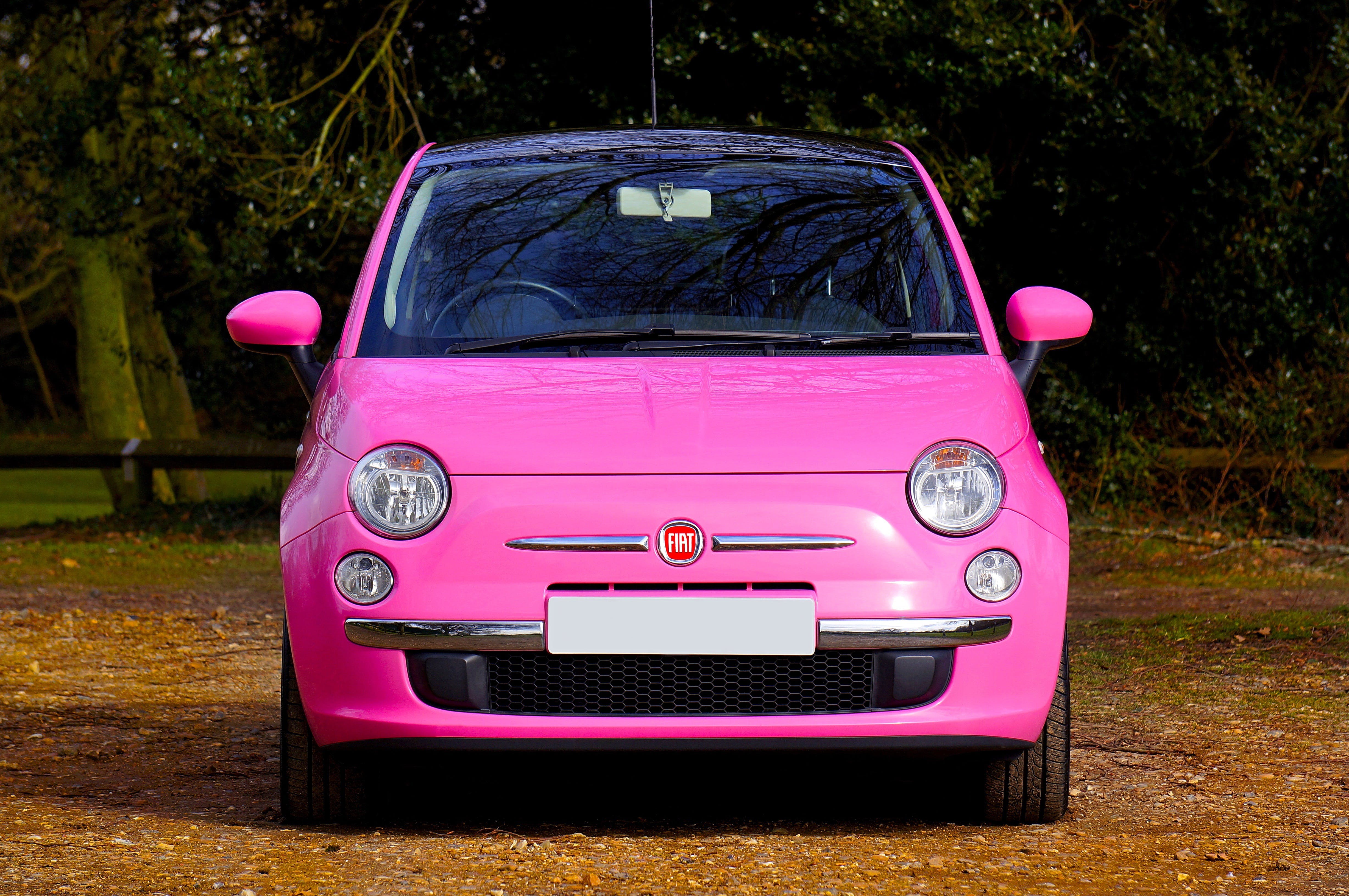 Photo of Pink Fiat 500 Car