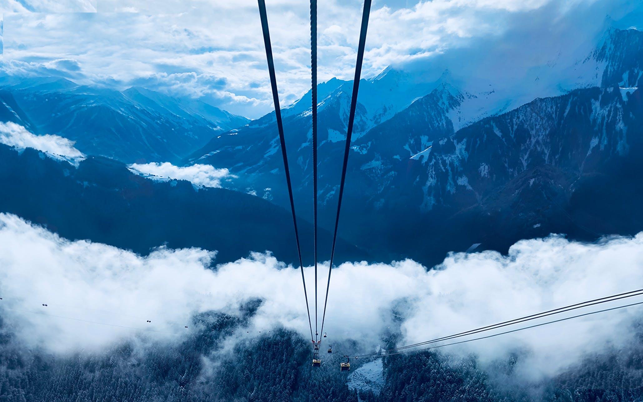 Free stock photo of alps, austria, clouds, gondola