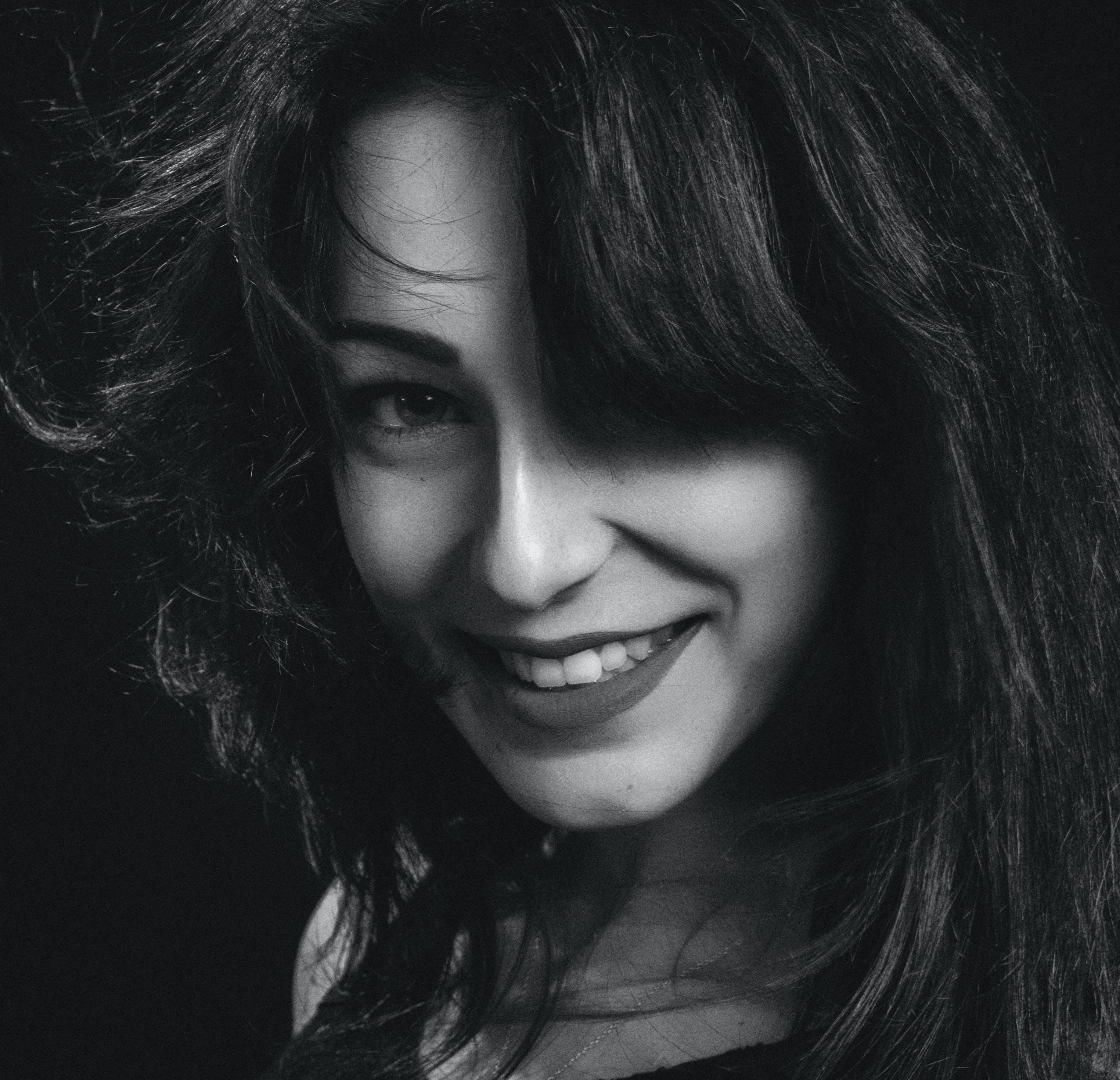Greyscale Photo of Woman