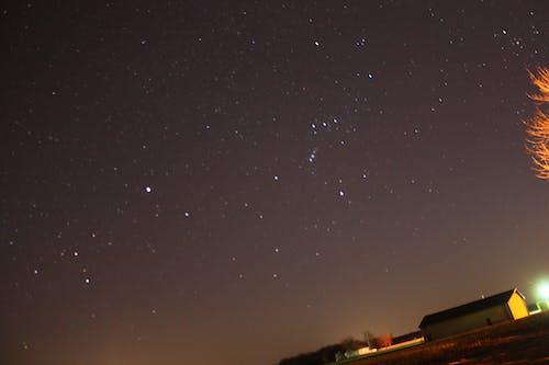 Ilmainen kuvapankkikuva tunnisteilla kenttä, kuu, tähdet, taivas