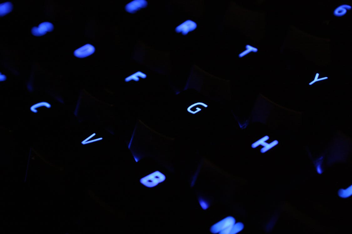 Close Up Shot of Black Computer Keyboard