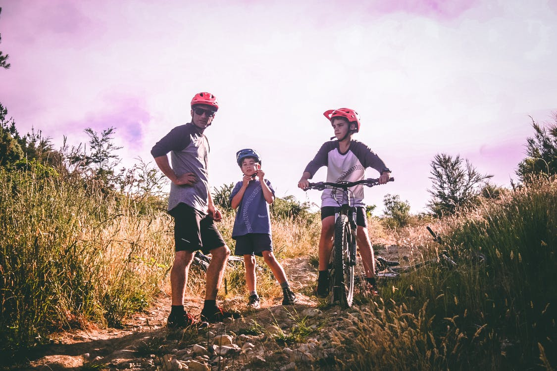 bikeři, bmx, chlapec