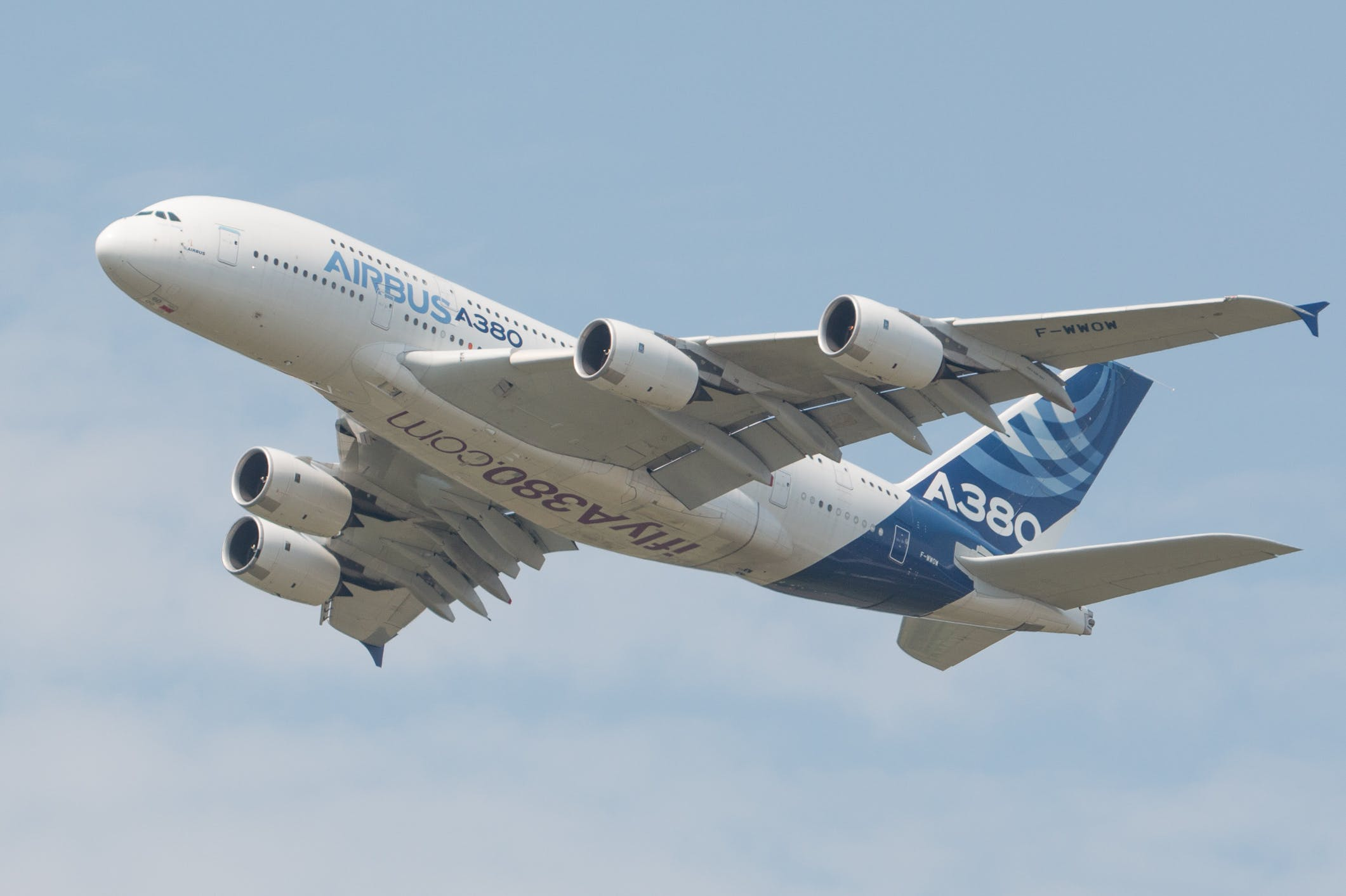 Free stock photo of airbus a380, airliner