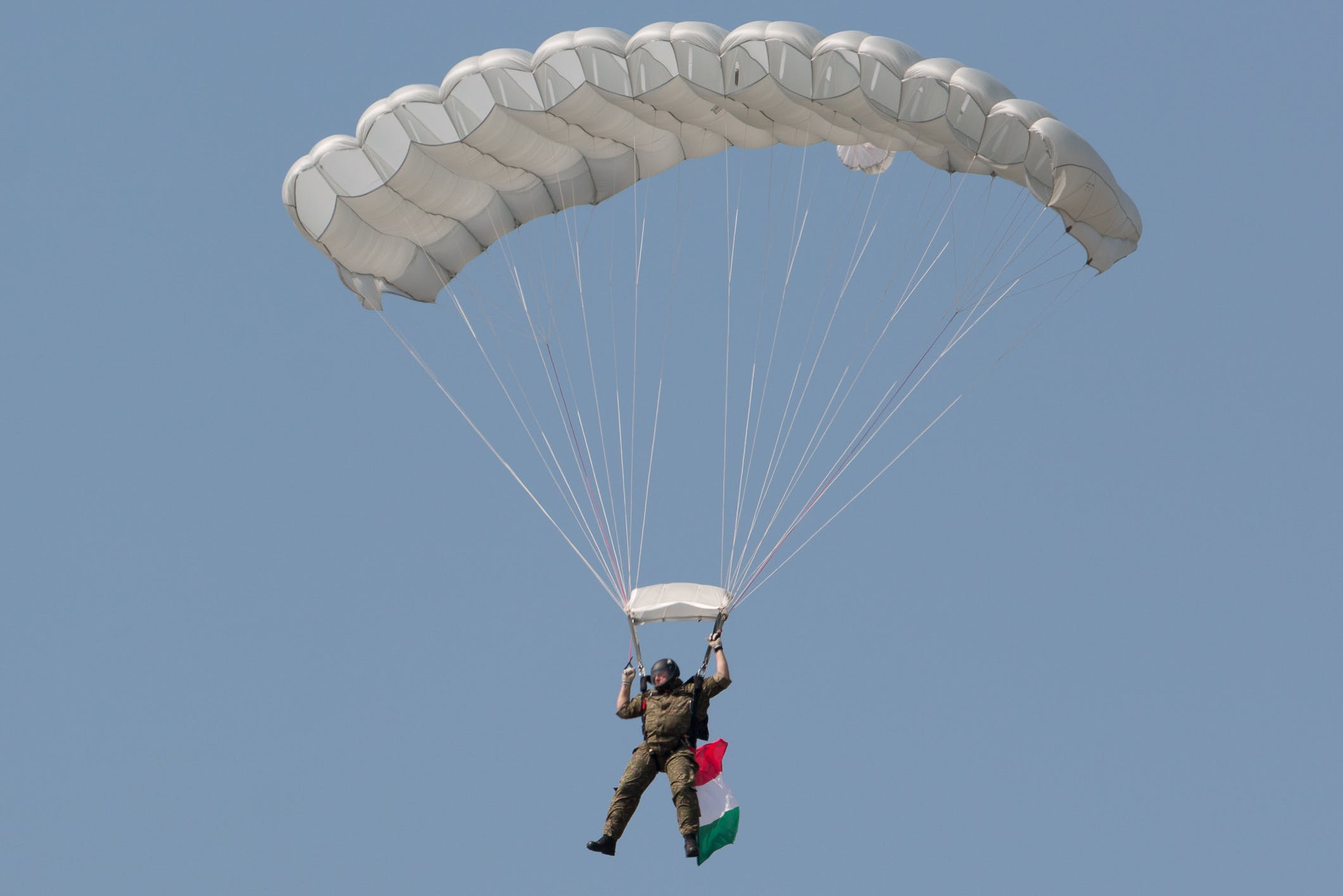 Free stock photo of parachutist