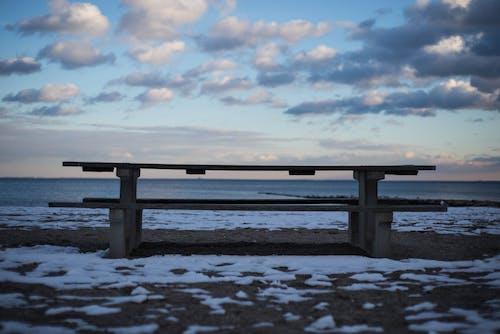 Immagine gratuita di cielo azzurro, cielo di sera, neve, nuvole