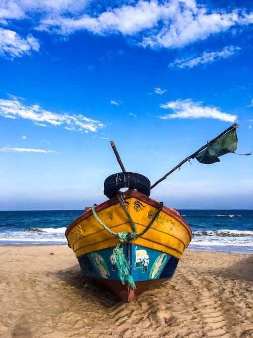 Imagine de stoc gratuită din #albastru, #barcă, #plajă, #pondicherry