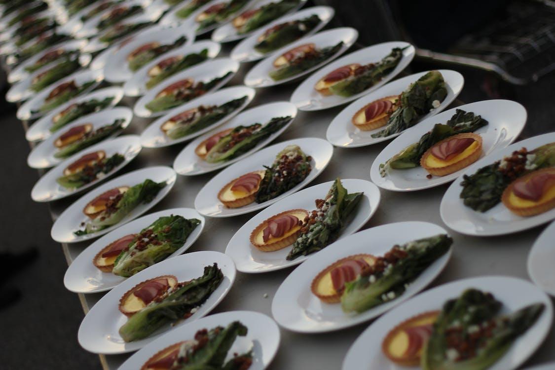 chef, custard, food in row