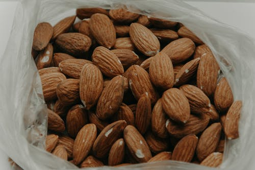 Close-Up Photography of Almond Nuts