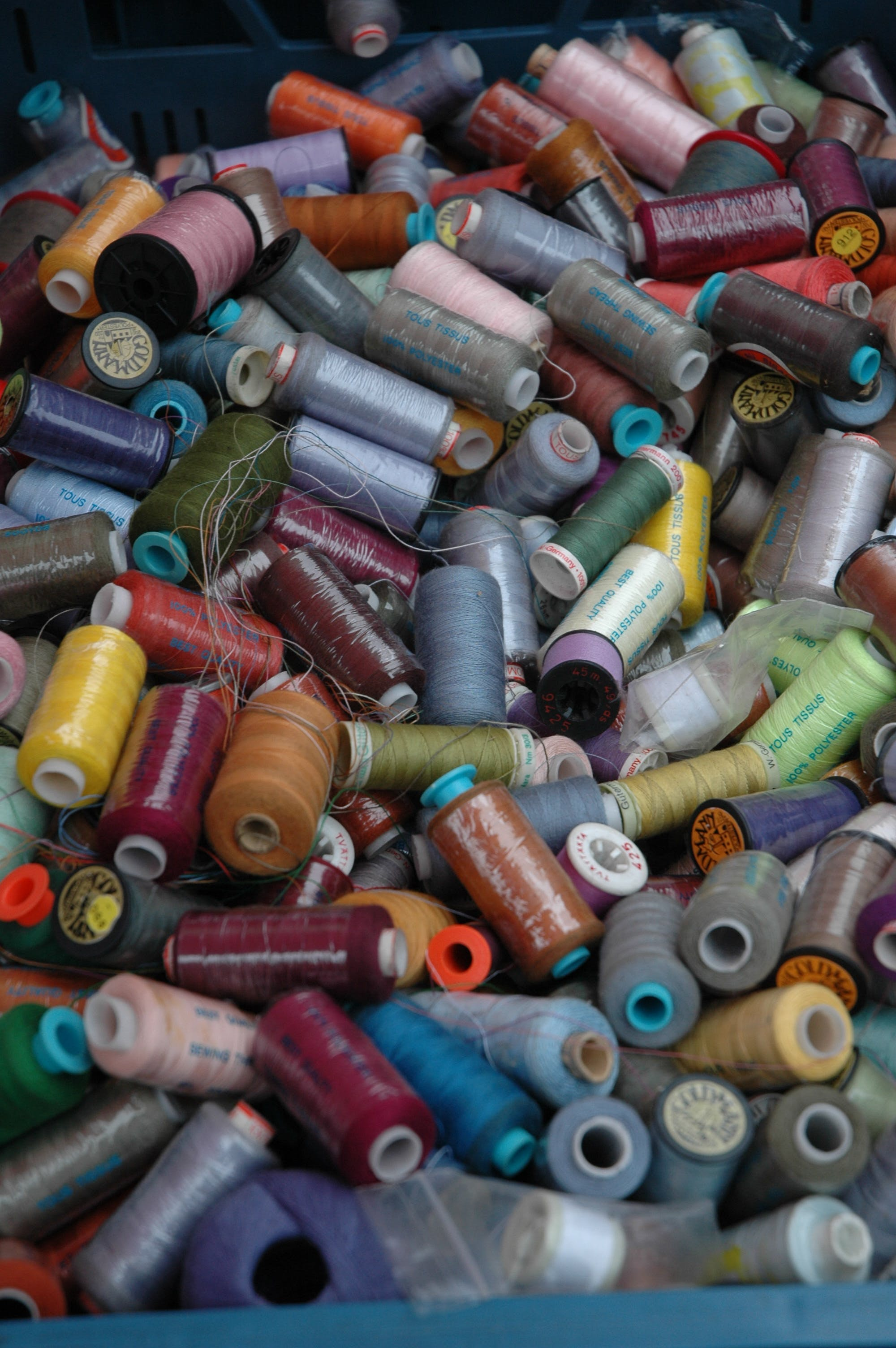 Free stock photo of colors, sewing thread