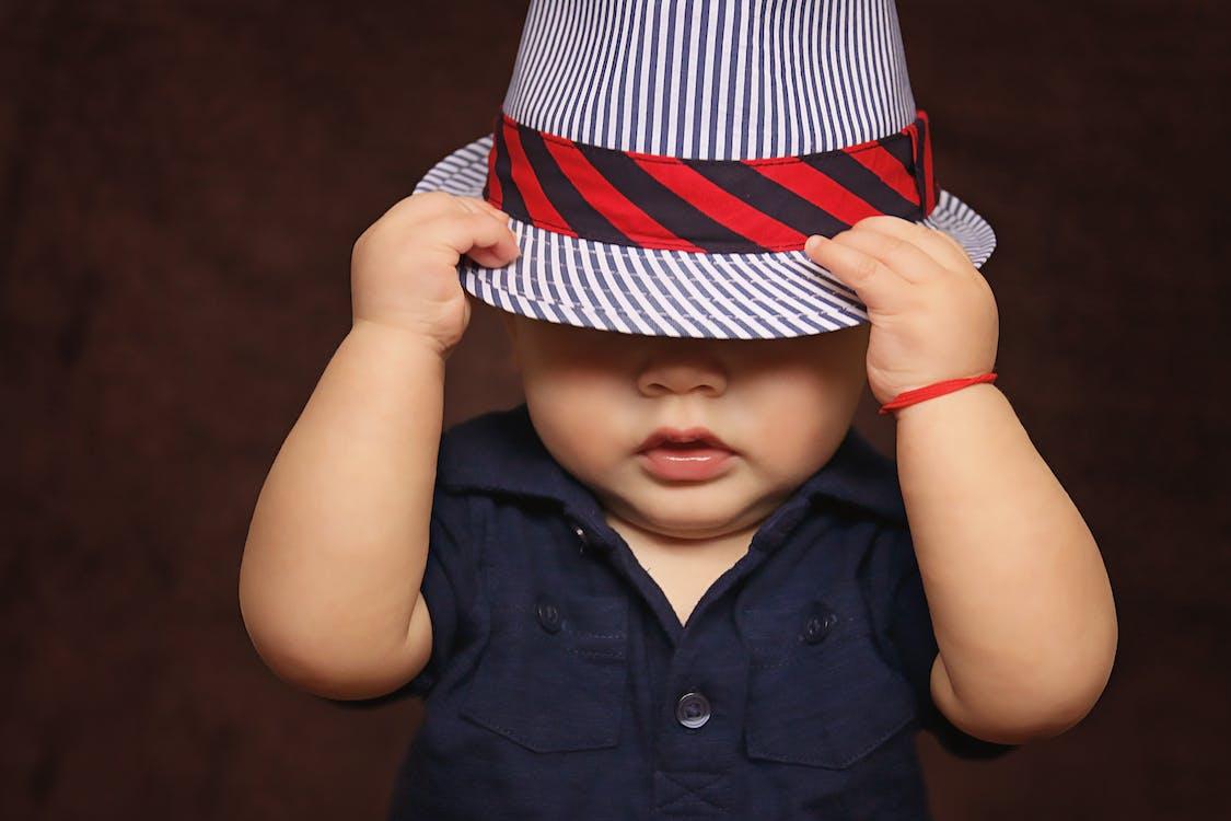 adorable, bébé, chapeau