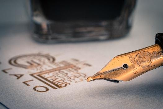 Brown Ink Pen