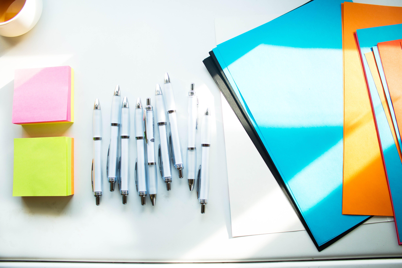 White Click Pens