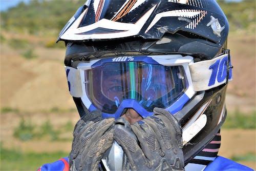 Free stock photo of biker, eyeglasses, helmet