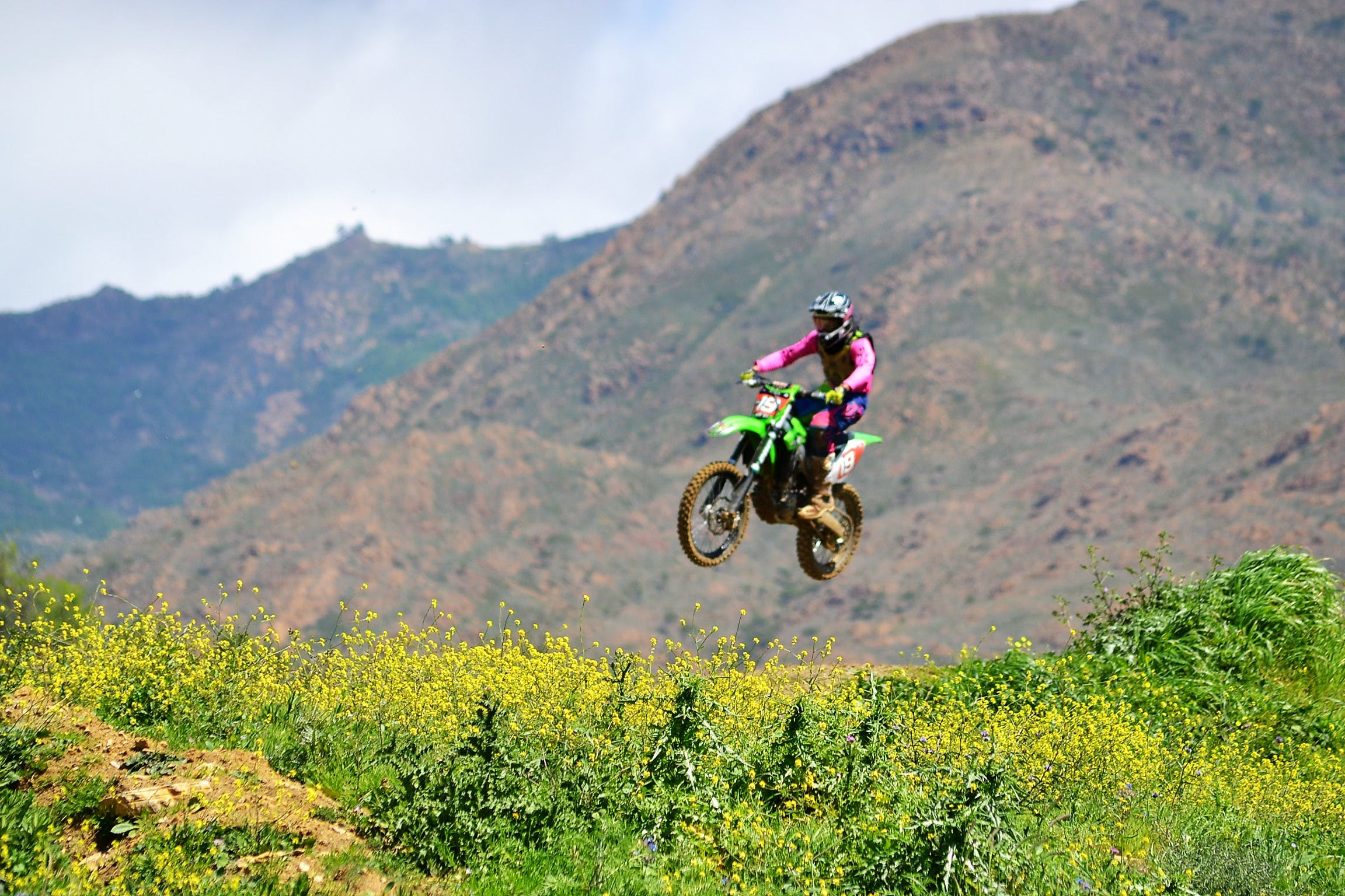 Free stock photo of biker, jump, motocross, motor