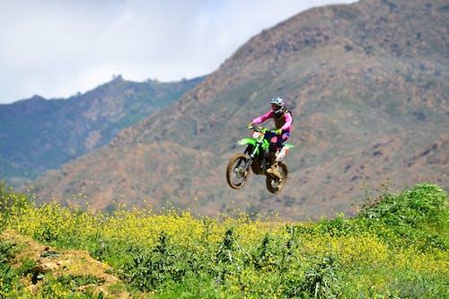 Free stock photo of biker, jump, motocross