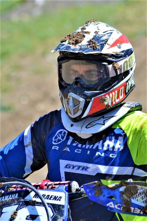 Free stock photo of biker, eyes, helmet