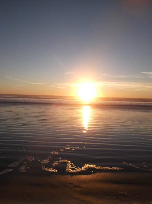 Free stock photo of gearhart sand and sunset