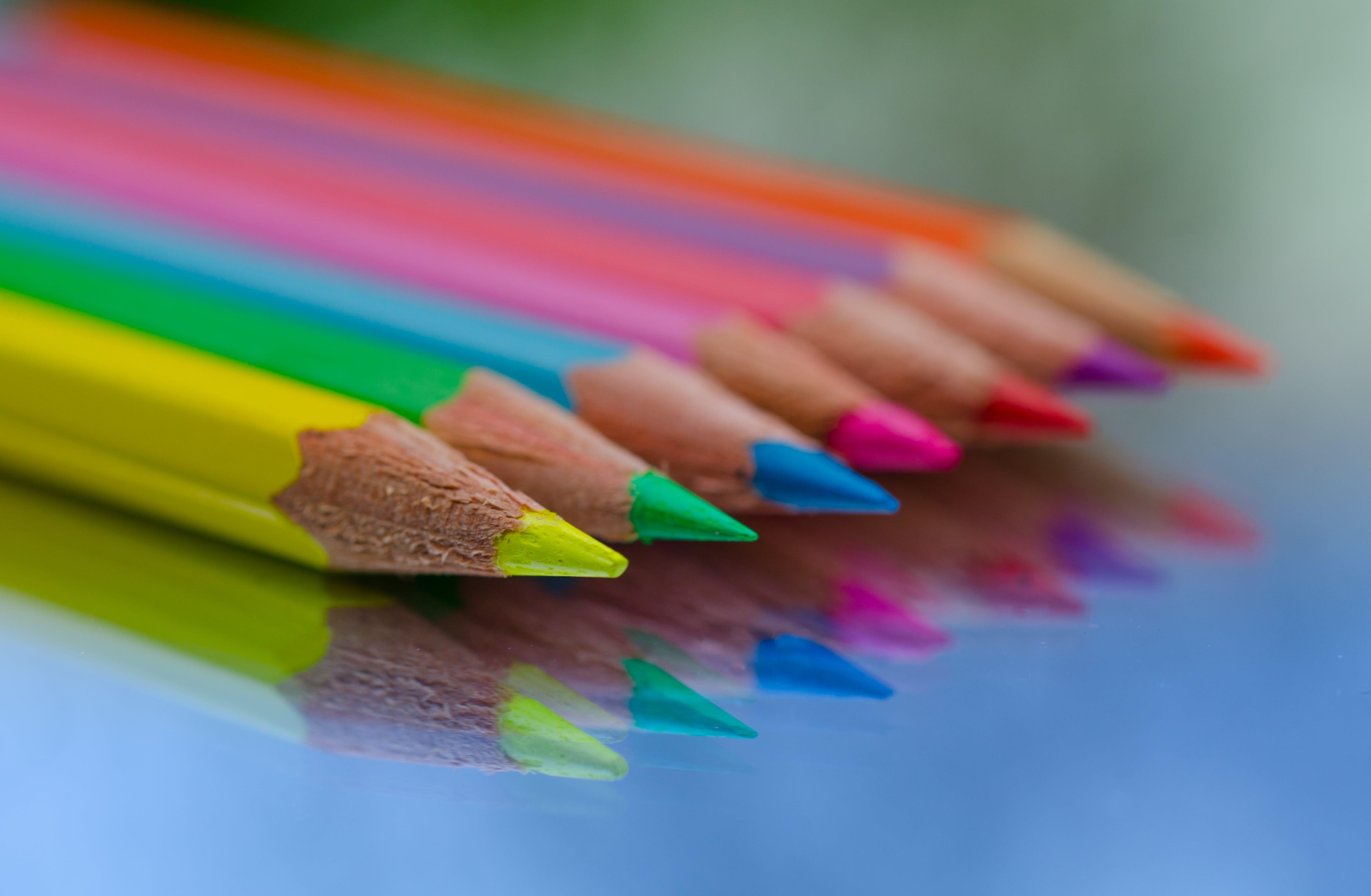 Kostenloses Stock Foto zu bunt, buntstift, buntstifte, design