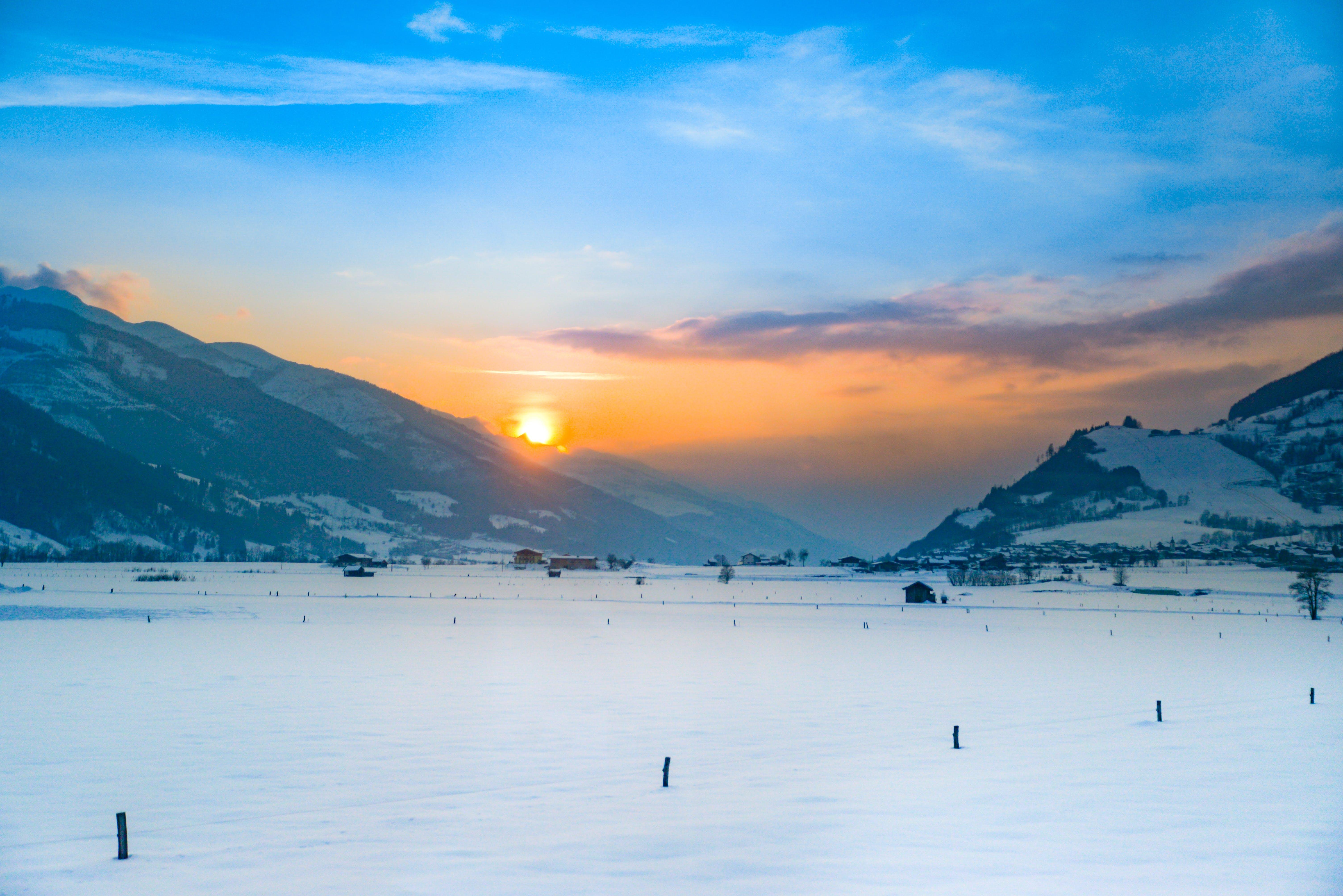Time Lapse Photography of Sunrise