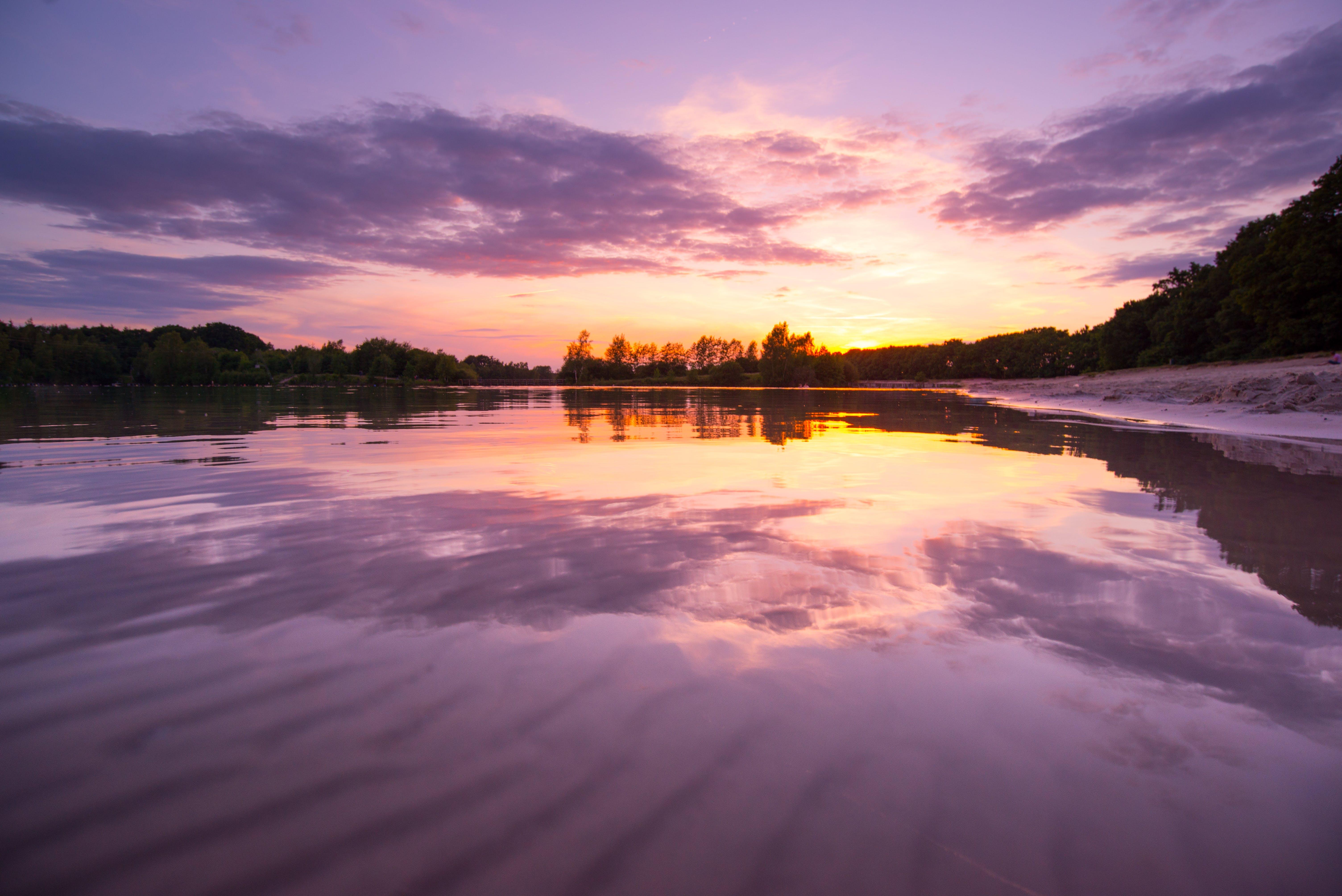 Gratis lagerfoto af aften, farverig, hav, himmel
