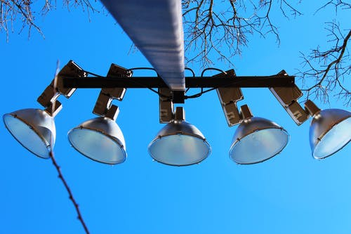 Free stock photo of blue sky, lights, park