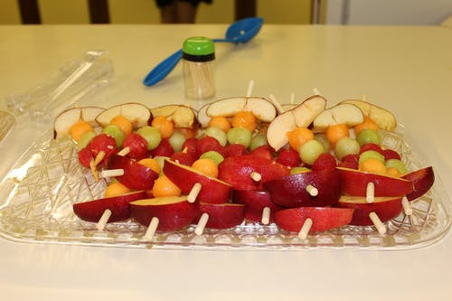 Free stock photo of appetizer, fruit, kabobs
