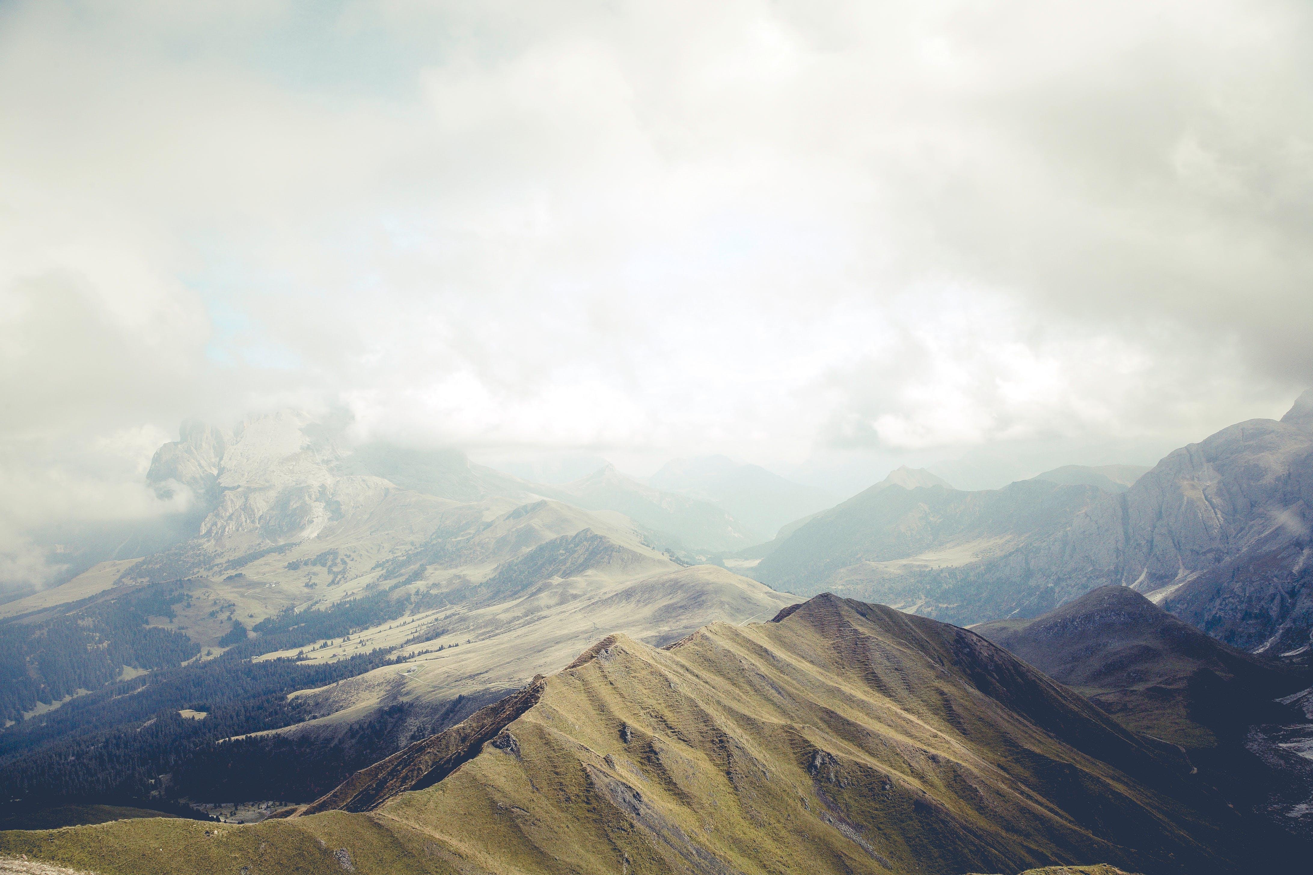 Mountain Peek during Daytime