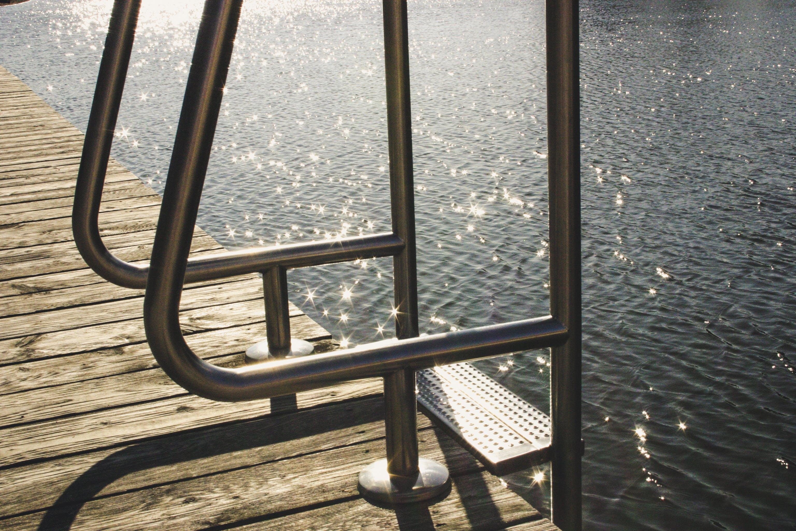 Grey Steel Pool Ladder