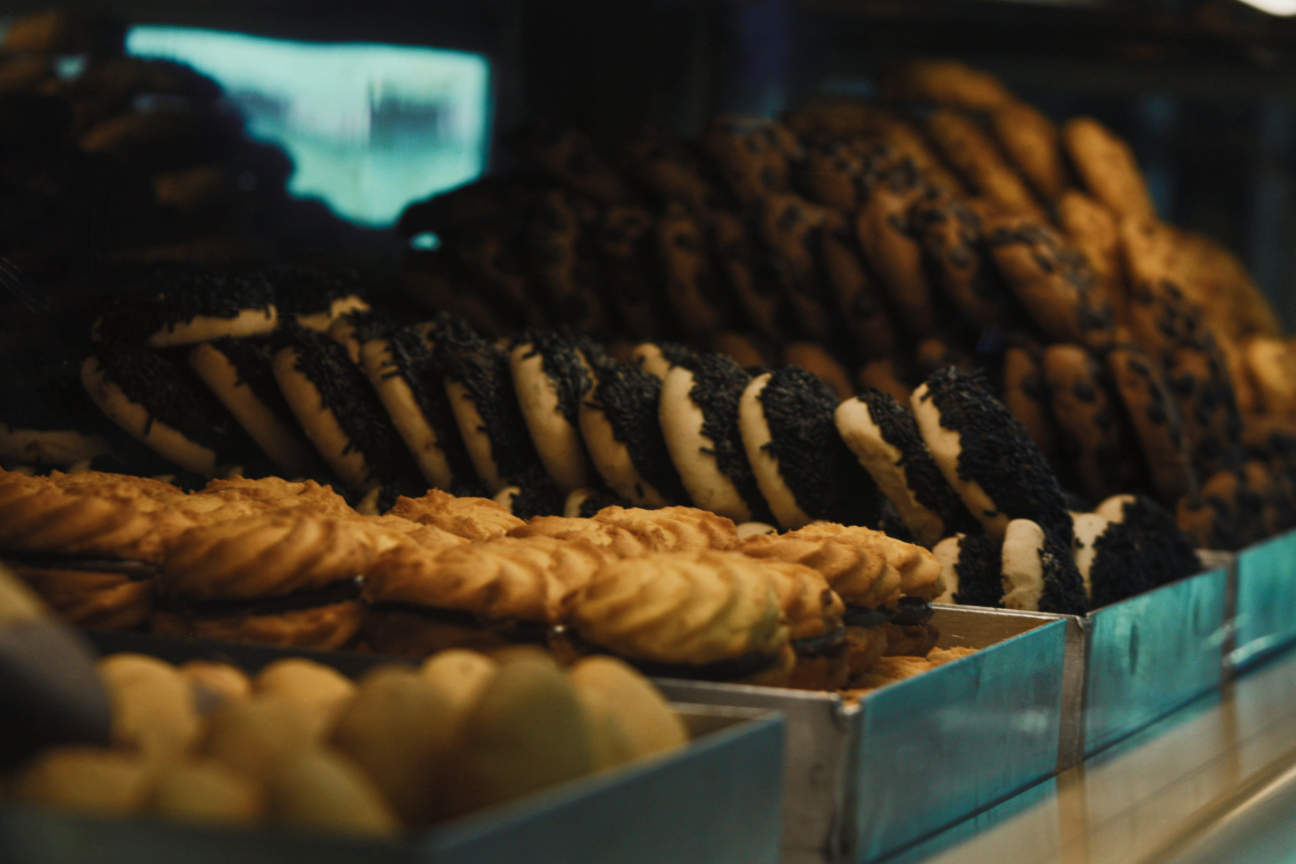 Selective Focus Photography of Doughnut and Cookies